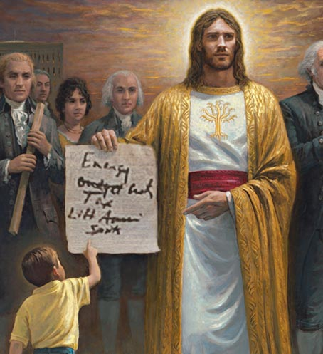 "Jesus was a Republican! ""Lost Gospel of Palin"" Discovered! Reveals God's plan: energy, tax cuts, and lift American spirits"