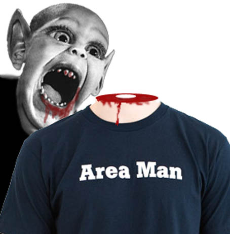 Bat Boy of Weekly World News Mauls The Onion's Area Man