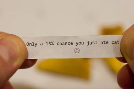 Only a 15% chance you just ate cat
