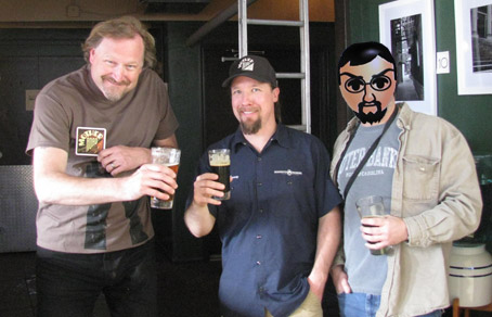 Alex Bone, Mick Zano, and Casey Carhart of Deschutes Brewery