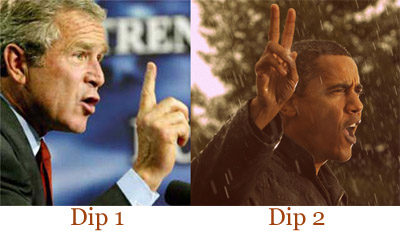 Bush and Obama: Two Dips