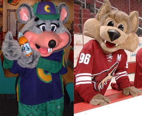 PETA Condemns Discord's Latest Grudge Match...Chucky Cheese vs. The Coyote's Mascot