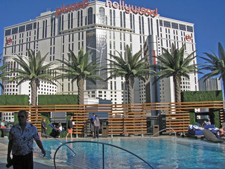 The roof pool at the Cosmopolitan Casino in Las Vegas