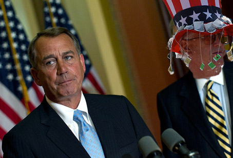 Is Dumb Breaking Up with Dumber? I don't know but Boehner is asking for his Dylan CDs back