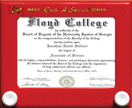 "Should I be Concerned? This ""degree"" was on my therapist's wall"
