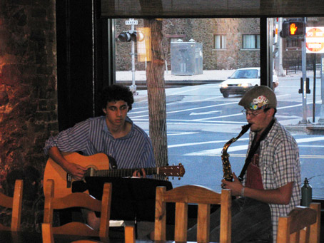 Applause Trailing off Mid-Set for Local Coffee Shop Duo