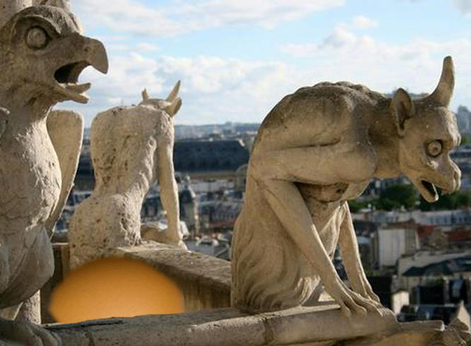 Huge Stone Egg Discovered Under Notre-Dame Gargoyle