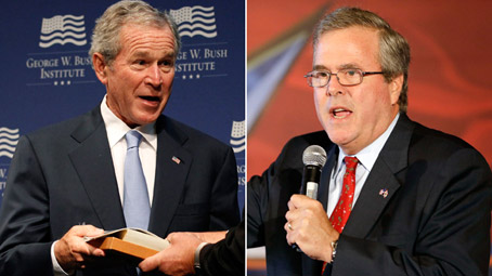 W Says Jeb is the Man for 2016, Because nepotism has worked out so well in the past