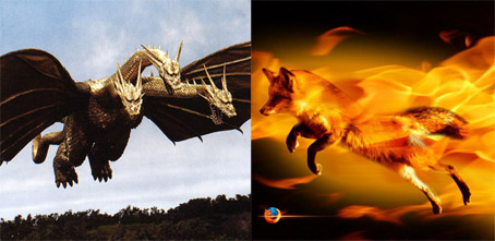 Ghidorah vs. Mozilla Flops At Box Office! Well, it was better than Flight of the Netscape Navigator
