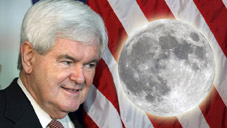 Gingrich Vows to Campaign on Future Moon Base