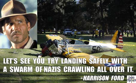 Harrison Ford's Explanation Raises More Questions; In Related News: Han Flies So Low He Crashes into Golf Course