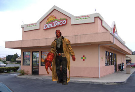 Was the Red Toxic Sludgeslide a Result of Hellboy's Value Menu Night? Who knew Hungary had a Del Taco?