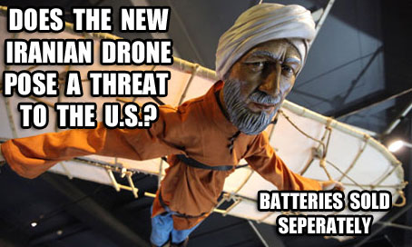 Iran Claims to Have Successfully Copied U.S. Drone, It comes in black too for Stealth Bomber Mode