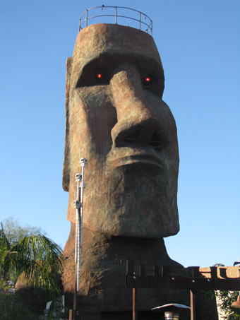 The Shanty, giant moai