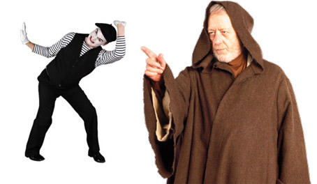 You Are Trapped in an Invisible Chamber of Energy, Origin of the Jedi mime trick