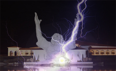 Zeus Claims Responsibility for Destroying Ohio Jesus Statue