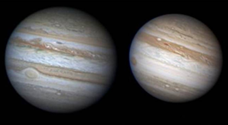 Jupiter before and after going on the South Belt Diet