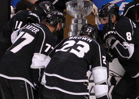 "Knowing No Hockey Customs, L.A. Kings Just Stare at Stanley Cup Until Fans Leave, Chant of ""Lift it Assholes!"" fell on deaf ears"