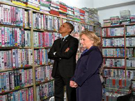 Obama Visits Last Operational 80s Video Store, Witnesses claim he rented all of the Toxic Avenger movies.