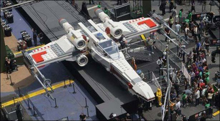 Ghetto Shaman Vows to be the First to Fly 23-Ton Lego X-Wing Model