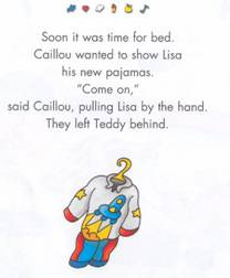 From the Caillou Babysitter book