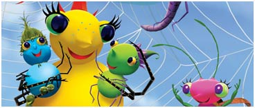 From the Miss Spider's Sunny Patch Friends show on Noggin and Nick Jr.