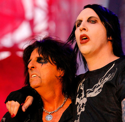 Manson and Cooper in 2012...Scare the Bejesus Out of the Status Quo