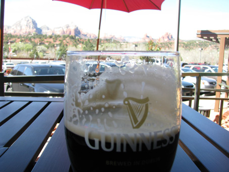 The View from My Guinness: A Stout Pours in Sedona