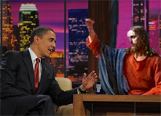"Jesus Tells Obama to ""Grow a Pair"""