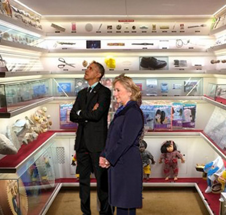 Obama Visits World's Smallest Museum, Next stop, Alliance Nebraska for Carhenge