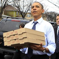 Obama Offers Free Pizza with every Healthcare Enrollment