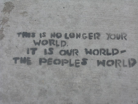 Occupy Sidewalk Message
