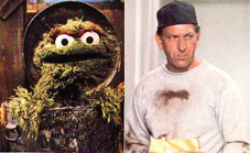 Oscar the Grouch Gives Klugman's Eulogy