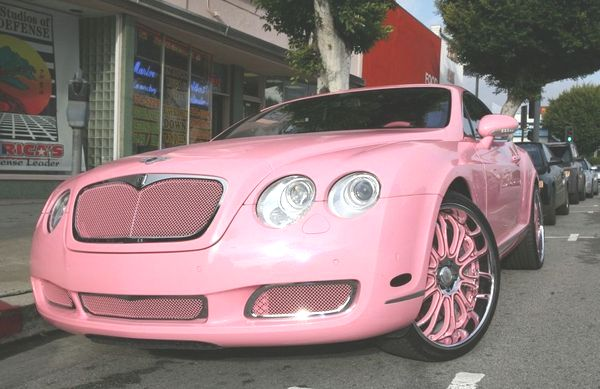 CRIME AGAINST HUMANITY 2008 PARIS HILTON'S NEW BENTLEY...If half-million dollar Bentleys coud talk, this one would be begging for the crusher