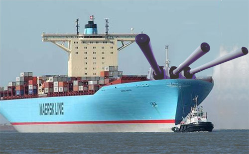Maersk Line's Answer to Somali Pirates...The new MV Maersk Phalanx