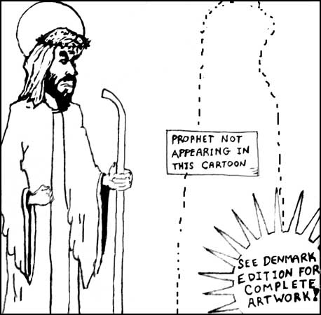Cartoon Mohammed has left the cartoon