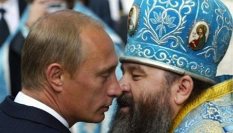"Putin: ""I'm only gay with the clergy."" Deluise: ""Sure, and I'm da Pope."""