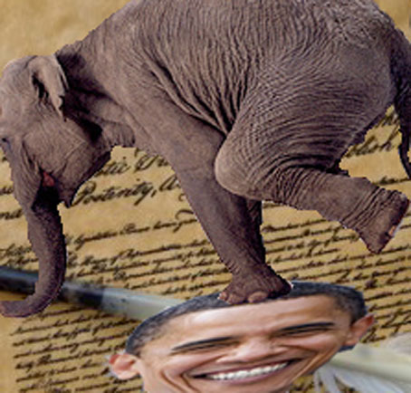 Republican elephantism stomps Obama
