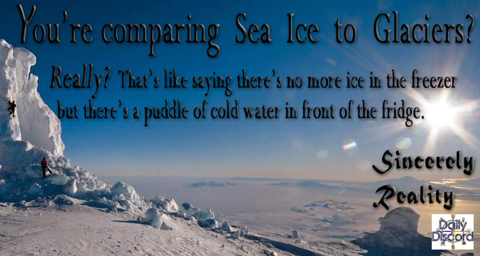 Compare Sea Ice to Glaciers