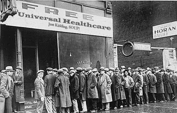 Universal healthcare soup kitchen