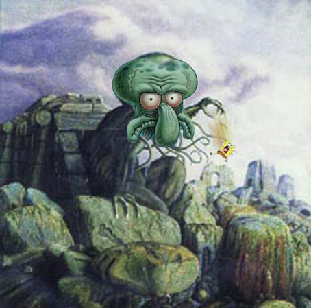 Squidthulhu! For those three Spongebob/Lovecraft fans out there