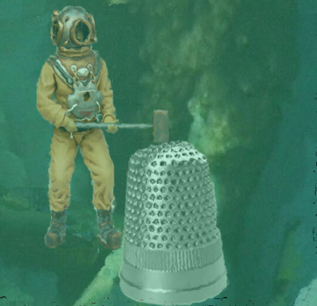 BP Insists Their Containment Dome is State of the Art , Just don't make fun of the little silver boot their using to dig the relief well