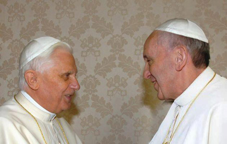 The Popes Come Out! Demand to be Married in Church! Wonder twins powers activate! Form of Papal!