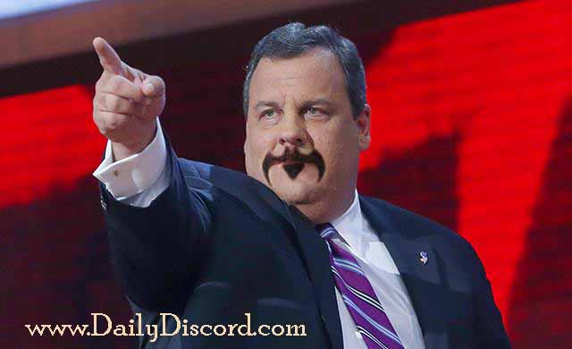 Chris Christie with beard, republican presidential candidate, governor of new jersey