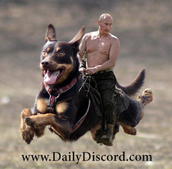 Putin riding dogs of war