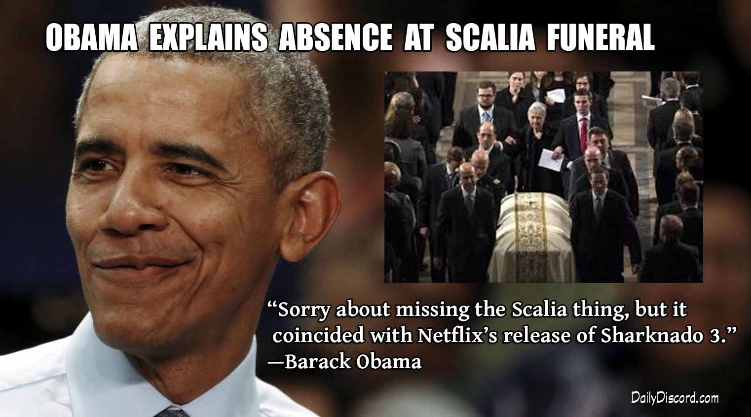 No One Expected The Scalia Imposition Obama Explains Funeral Faux