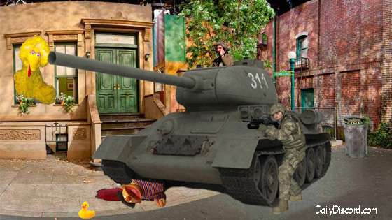 The End Of Muppets RESIST? As Military Sweeps Through Sesame